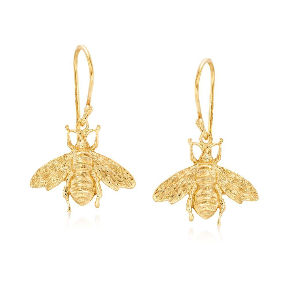 Bumblee Bee Drop Earring in 18K Gold Plated