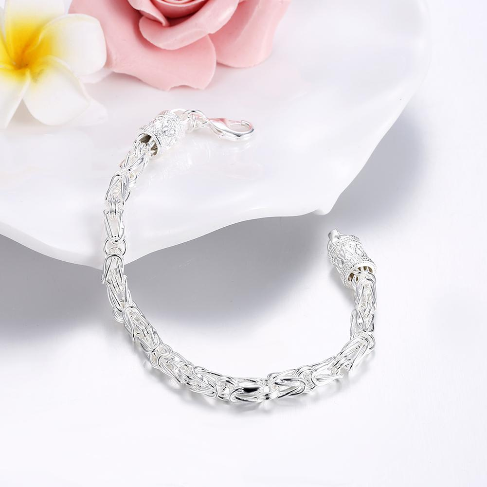 Byzantine Bracelet in 18K White Gold Plated 7.5""