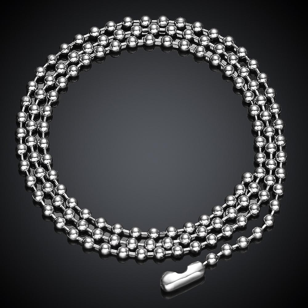 Stainless Steel Beaded Chain Necklace
