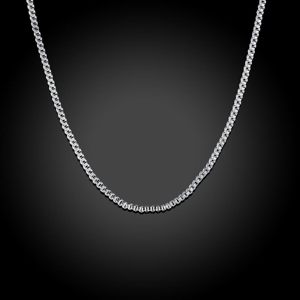 18K White Gold Plated  French Chain Necklace