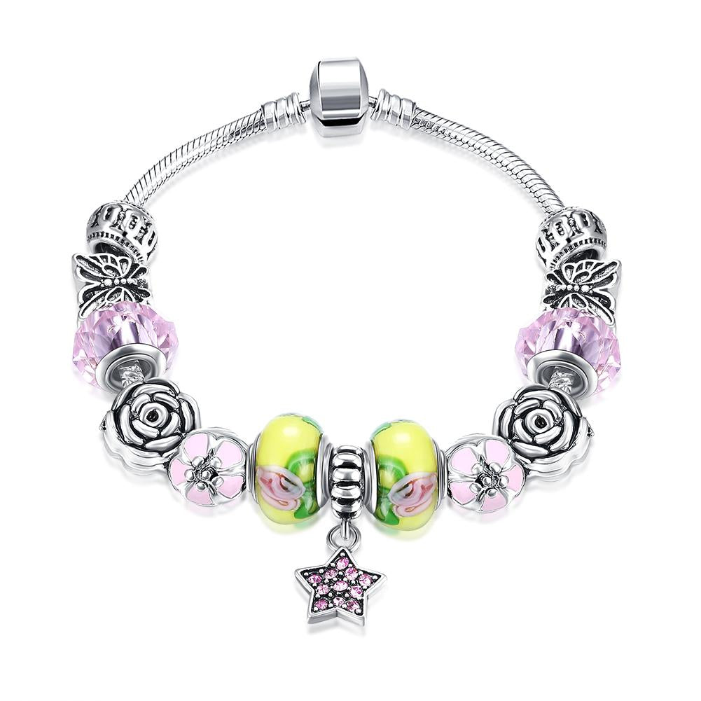 Strawberry & Banana Themed Pandora Inspired Bracelet
