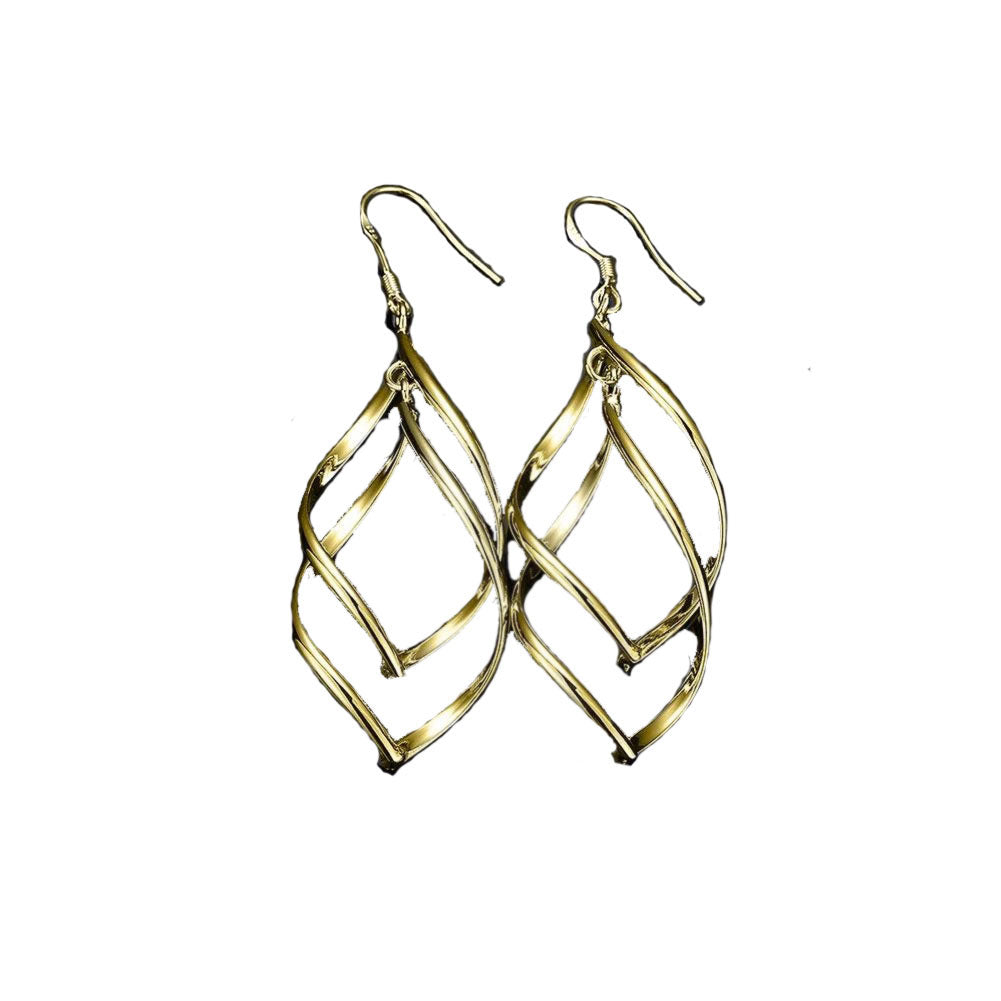 Spiral Twist Drop  Earring