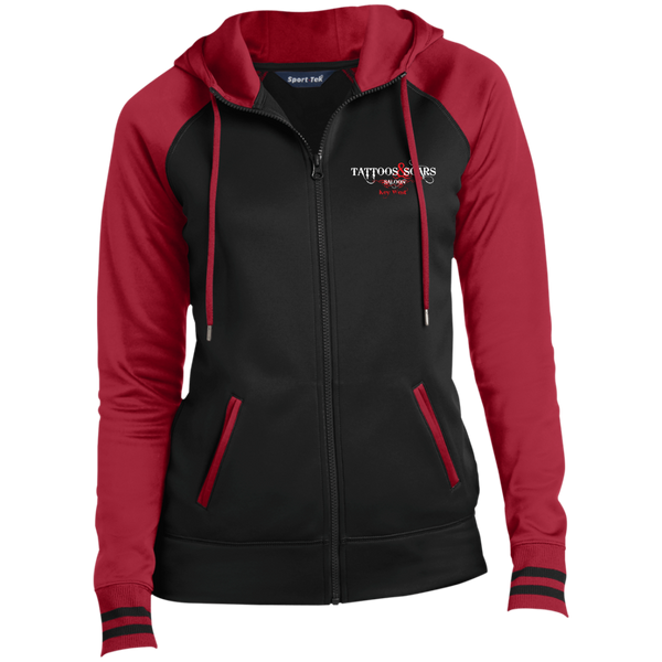 Ladies' Moisture Wick Full-Zip Hooded Jacket
