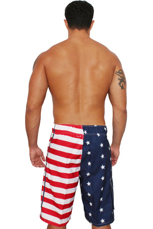 Patriotic American Flag Board Shorts