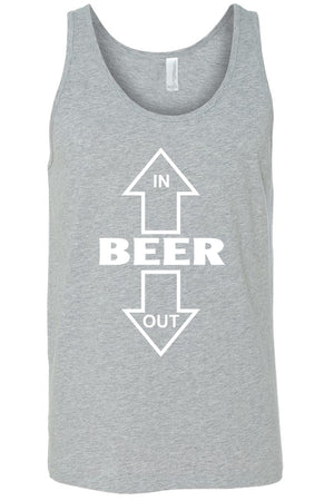 Men's Beer In/Out  Tank Top Shirt