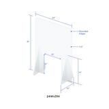 "Protective Shields - Sneeze Guard 1/4"" clear acrylic"