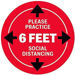 Social Distancing Red Decal