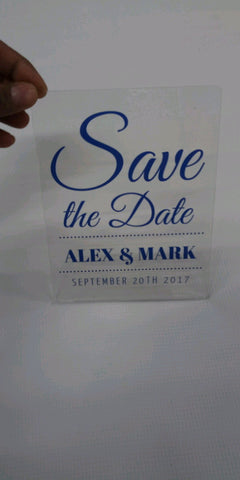 "5x7"" Acrylic Wedding Invitations"