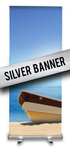 Silver Banner Stand