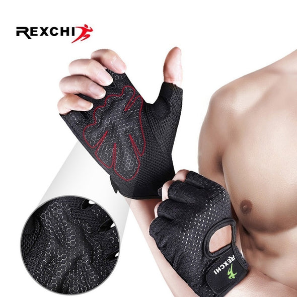 REXCHI Crossfit Gym Gloves for Fitness Men Women Half Finger Workout Sports Equipment Weight Lifting Bodybuilding Hand Protector