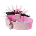 Single Flower Collar - Pink & Bright Pink flower w/purple collar and purple ends