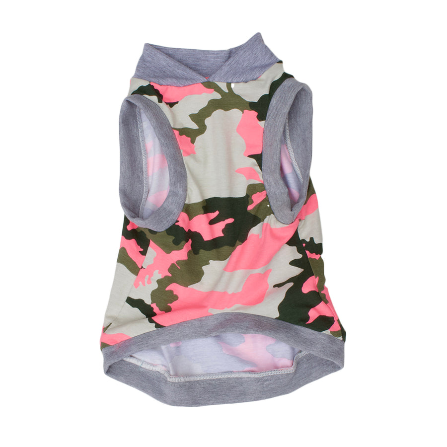 PAWjama - Cotton Candy Camo - Grey Neck/Hoodie and Trim