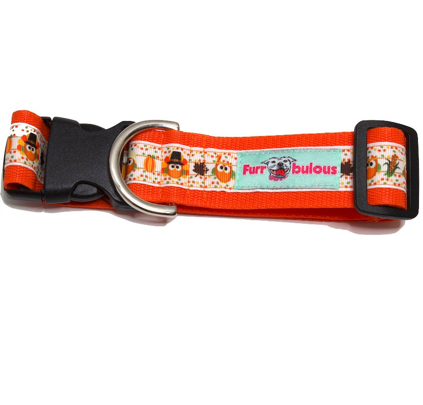 Fall - Autumn Dog Collars - 1.5""