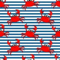 PAWjama - Pre-Order Crawly Crabs - Summer Paw-Shirt (Red Hoodie/V-Neck)