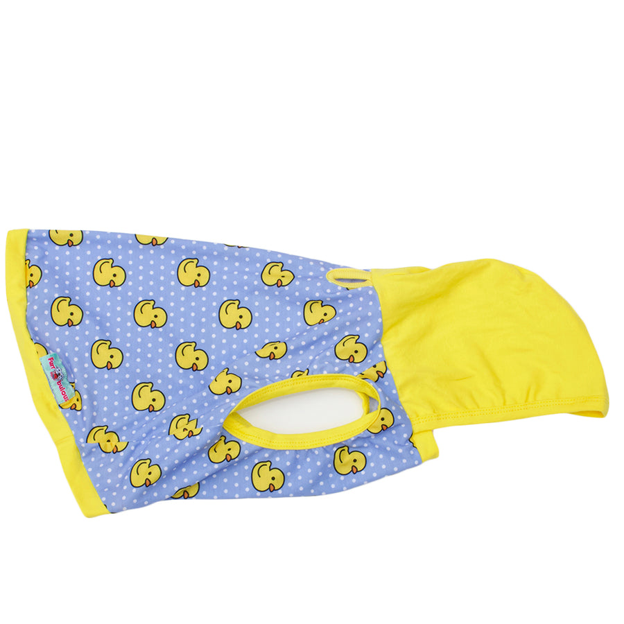 PAWjama - Water Duckies  - Yellow Neck/Hoodie and Trim