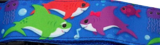 Dancing Sharks Sport Collar 1.5""