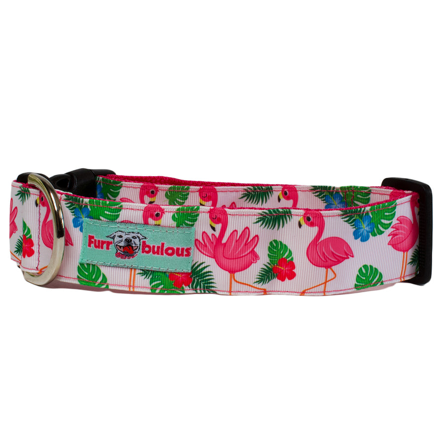 Pink Flamingo Sport Collar 1.5""