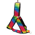 Pride Rainbow Ombré Black No-pull Harness - 1.5""