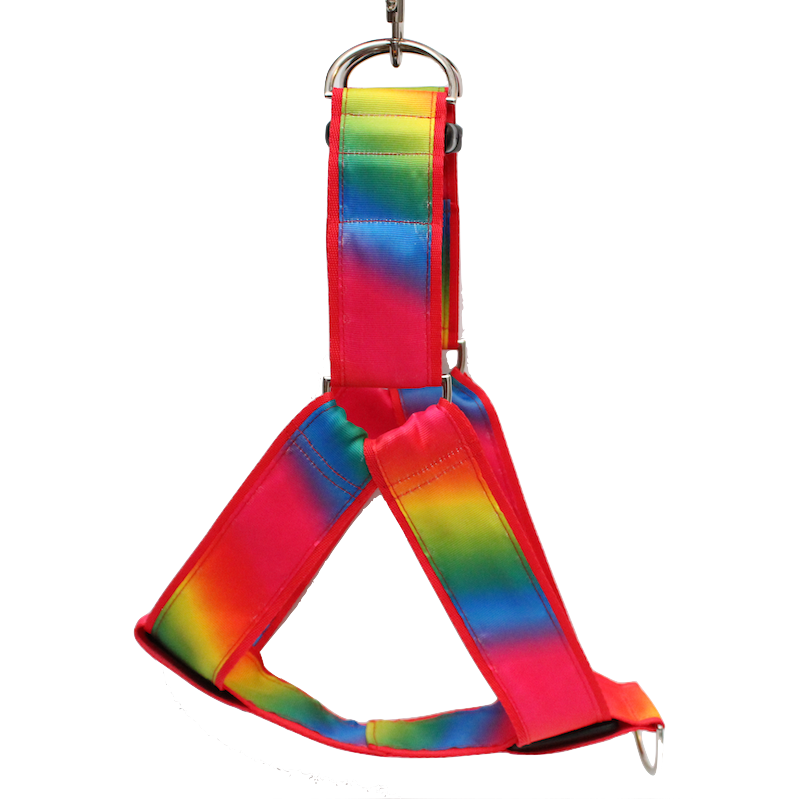 Pride Rainbow Ombré Red No-pull Harness - 1.5""
