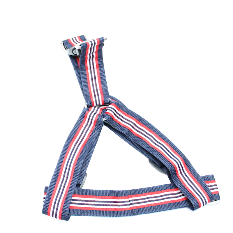Stripes Red, white & blue No-pull Harness - 1.5""