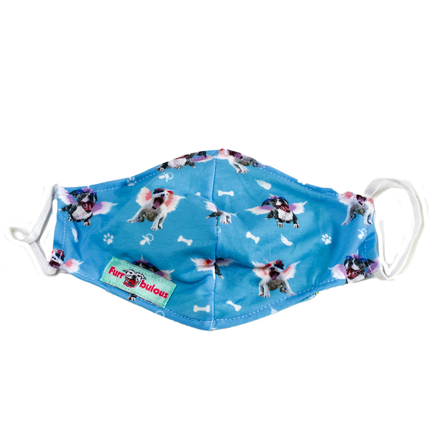 Magical Angel Pitties Blue Face Mask