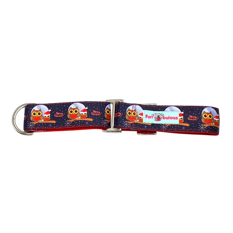 Christmas Martingale Collar 1.5""