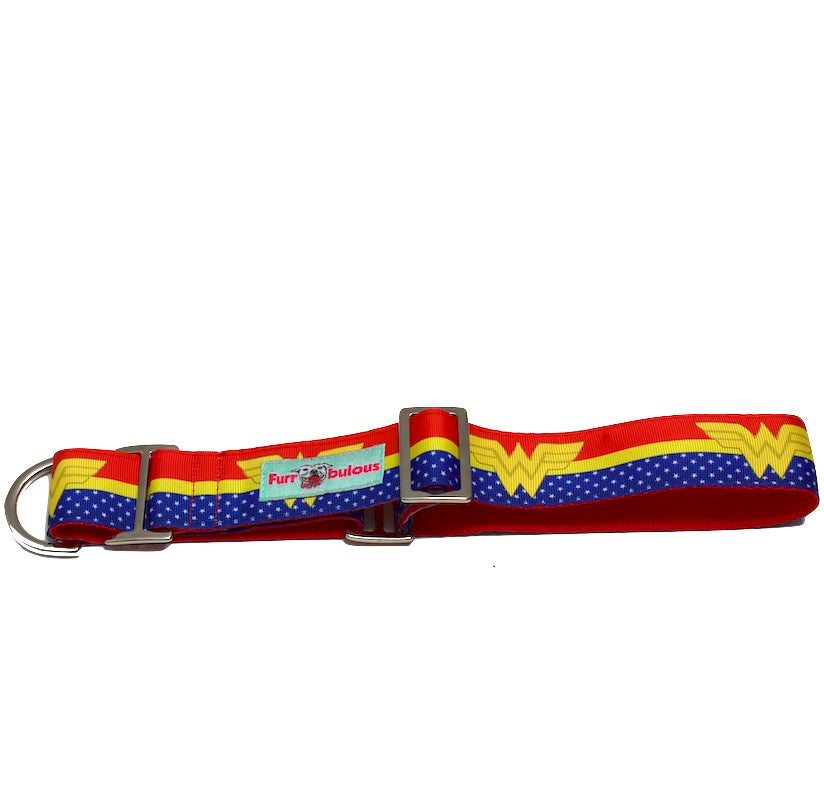 Martingale Wonder Woman Dog Collar 1.5""
