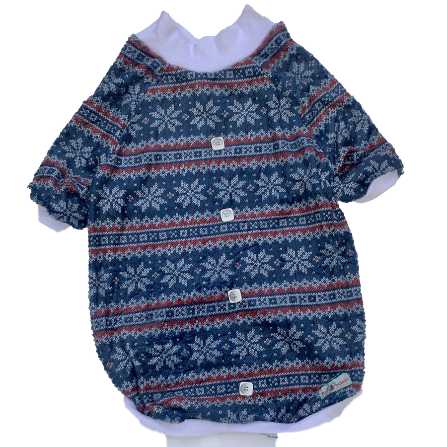 Winter Old Man Sweater - PAWJama with White V neck & Trim