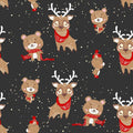 Unisex Human Pants - Deery, Beary Holiday (ready to ship on 12/2)
