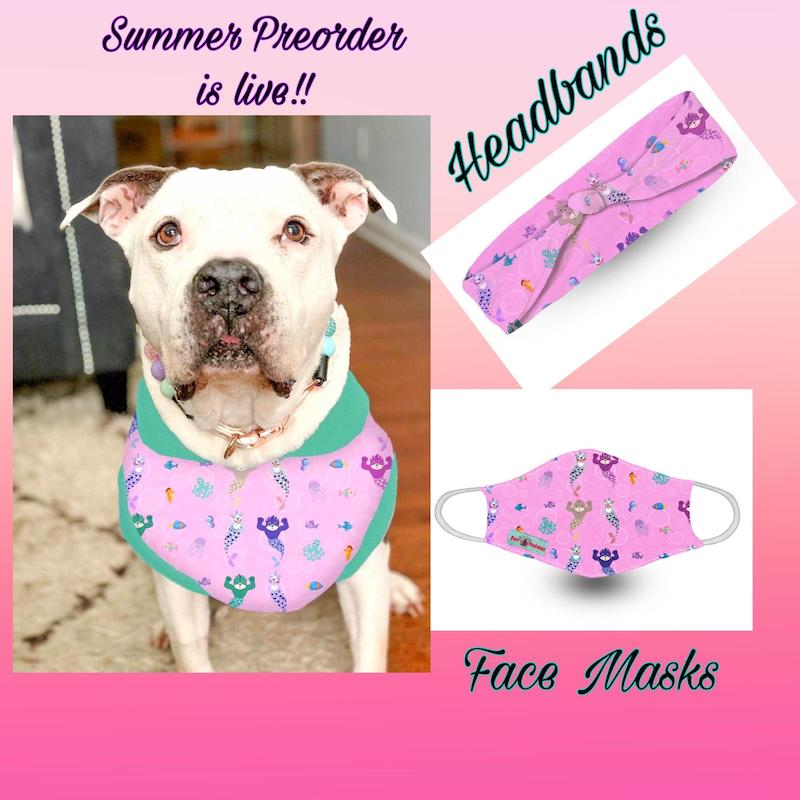 Face Mask - Pitties & boxers Beach Pawty Blue