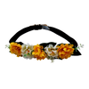 SHUCKS - Flowers Collar - Yellow & White flowers w/brown collar and yellow ends