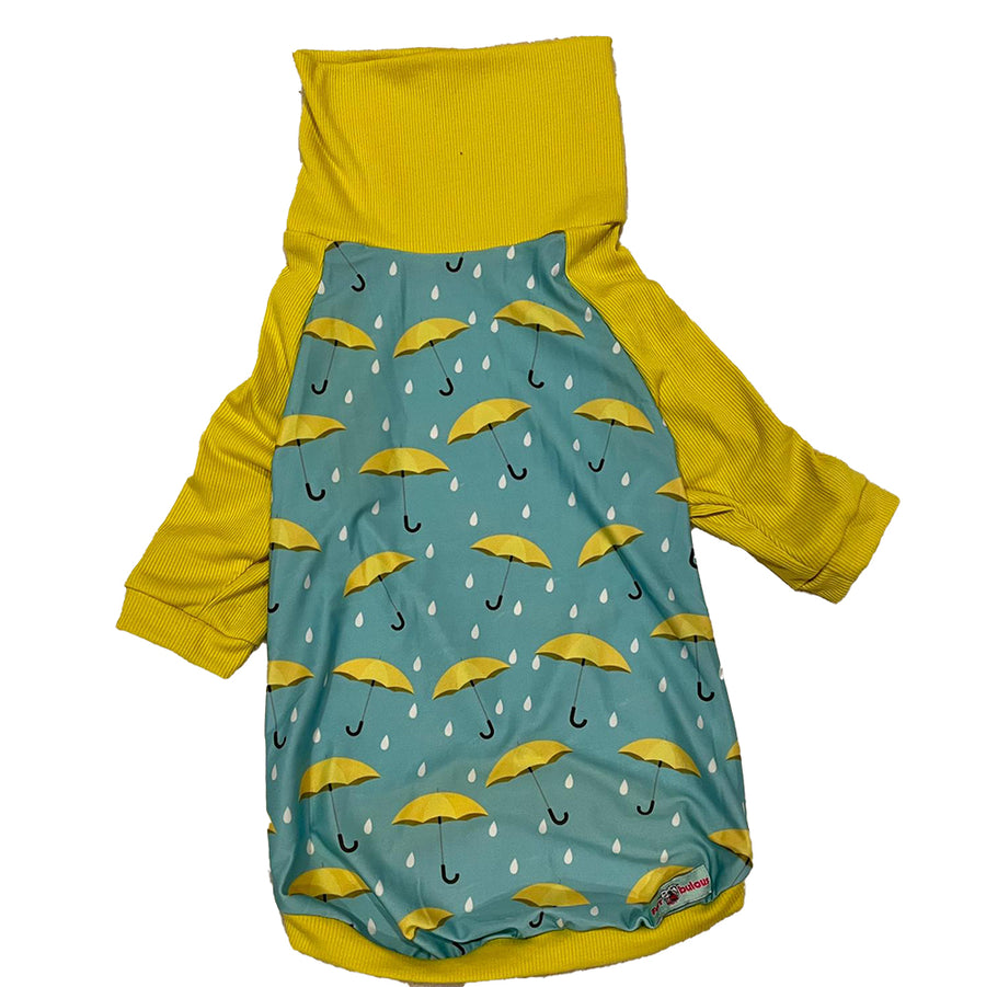 April Showers - PAWJama with Yellow Trim/Sleeves