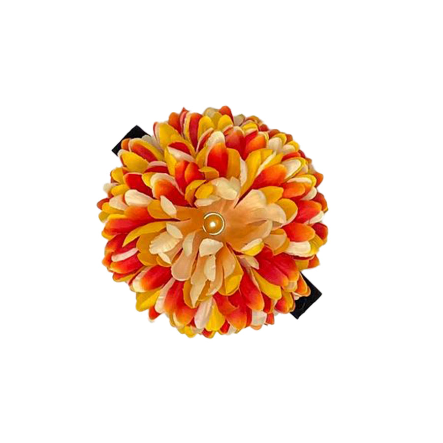 Orange/White/Yellow Mum - Medium