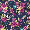 Spring Flowers - PAWJama with Fuchsia Trim/Sleeves