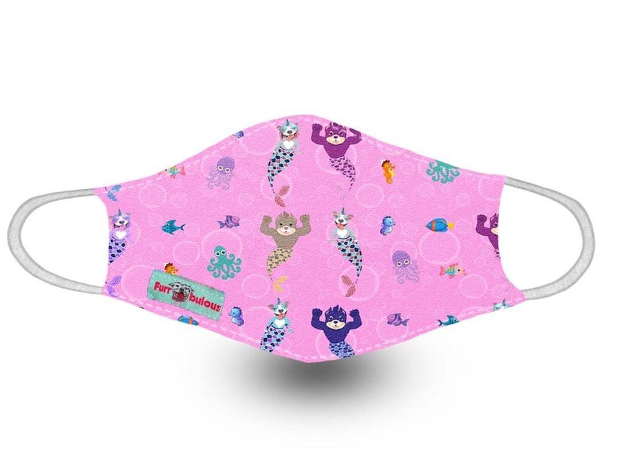 Face Mask - Pittie Mermaid Pink