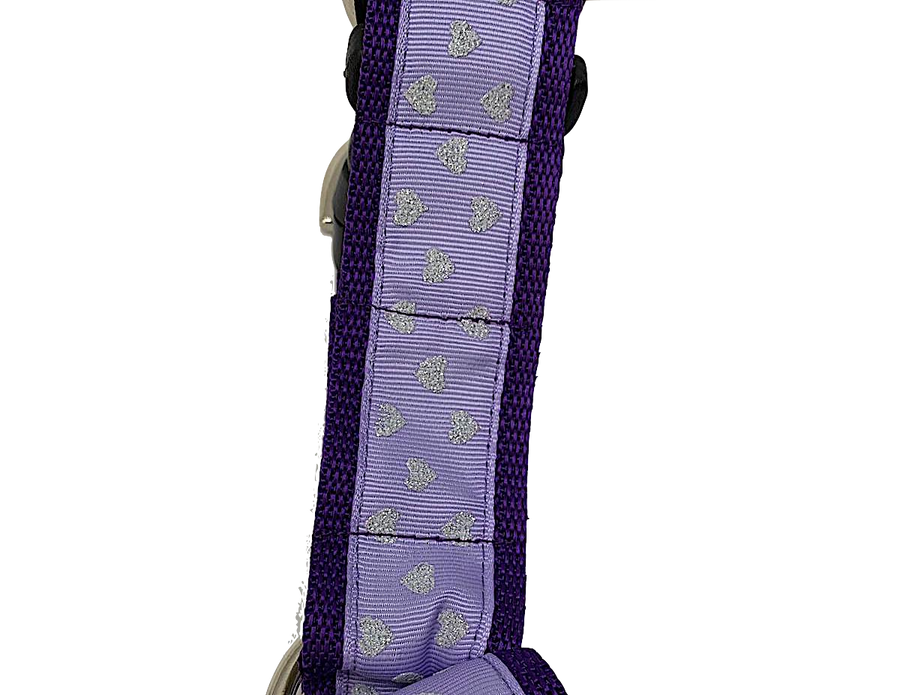 Purple w/glitter  No-pull Harness - 1.5""
