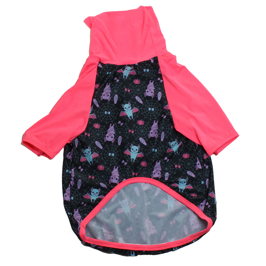 Batty Web with Hot Pink Trim & Sleeves