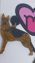 Load image into Gallery viewer, German shepherd earrings and brooches