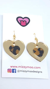 Mini leopard golden hearts