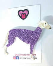 Load image into Gallery viewer, Greyhound in a turtleneck jumper