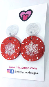 Snowflake Baubles Red, white or Green