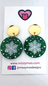 Snowflake Baubles Red or Green