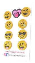 Load image into Gallery viewer, Cool Happy Silly Sad emoji studs