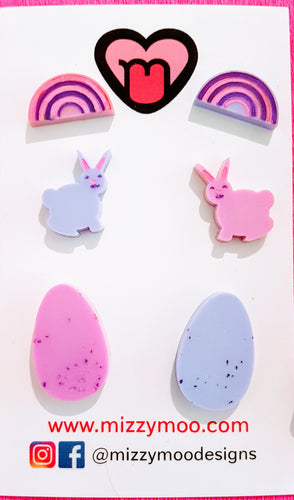 3 pack easter studs