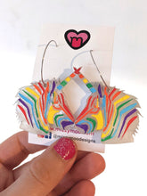 Load image into Gallery viewer, Rainbow unicorn head hoops