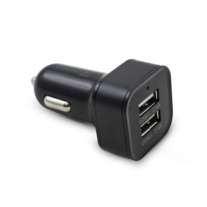 Car Phone Charger - Dual Port 4.8 Amp Fast Phone Car Charger - Dual Port - Apple & Android Devices - Black | Caseco