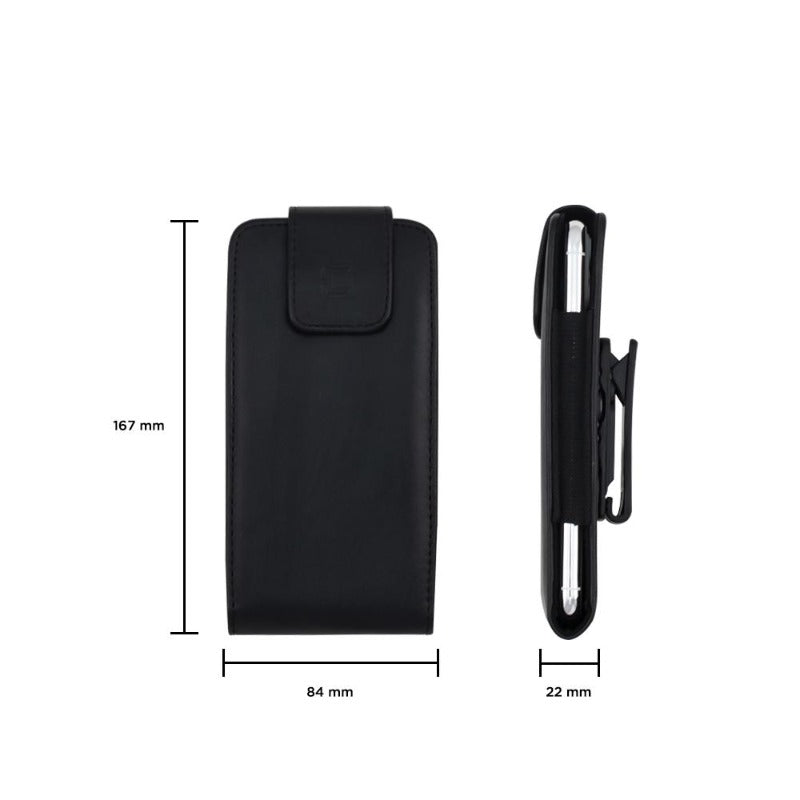 Vertical Leather Pouch - Samsung A50