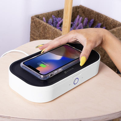UV Phone Sanitizer With Wireless Charger - Phone Sanitizer