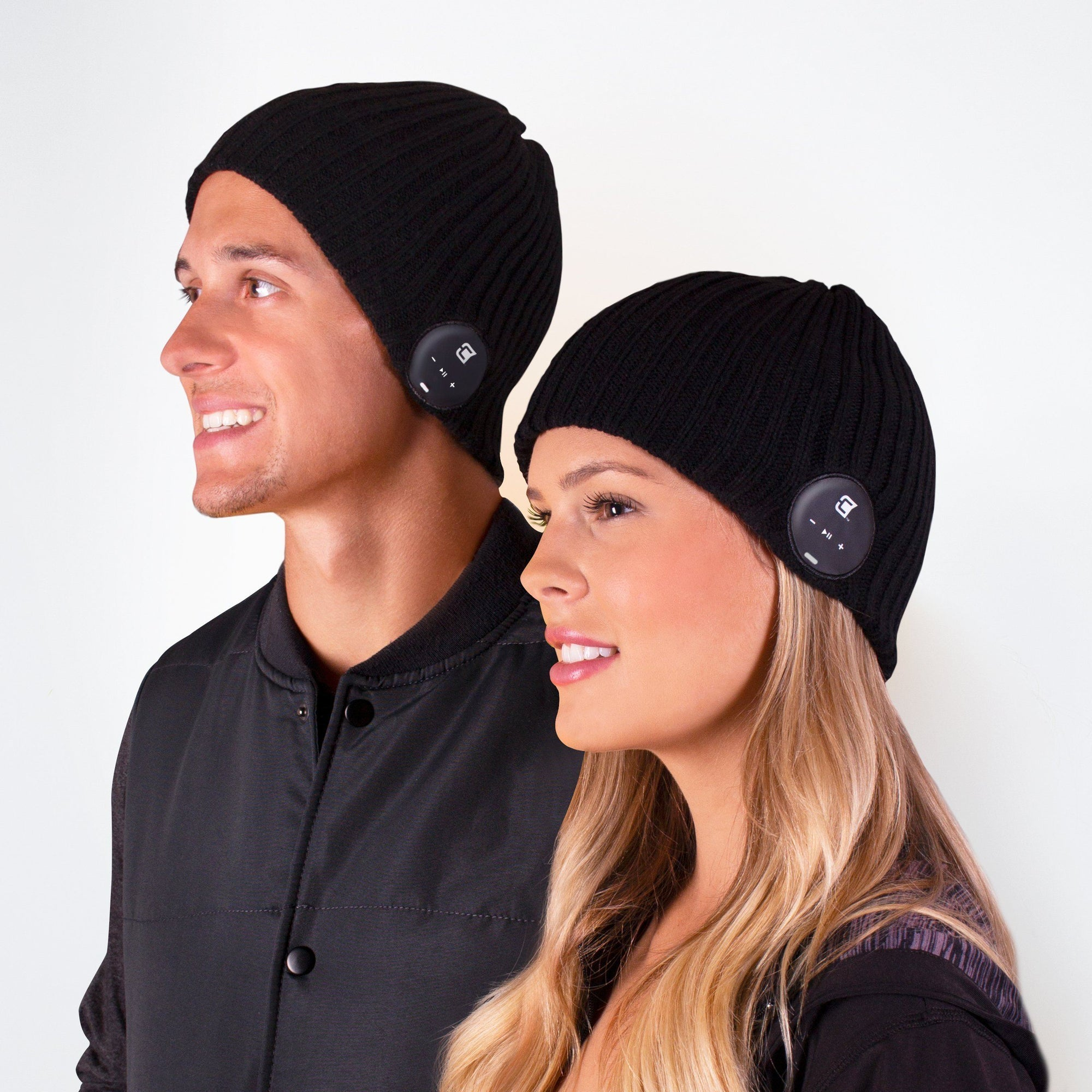 Bluetooth Beanie Wide Ribbed Charcoal Black - Blu-Toque Blu-Toque Caseco
