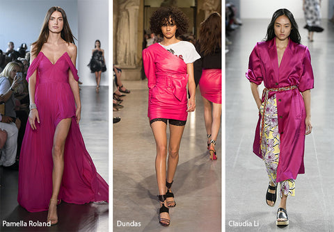 Fuchsia Pink Spring 2019 Colour Trend Footwear